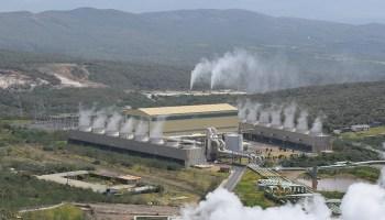Aerial view of the Olkaria 4 power plant in Kenya's Olkaria geothermal field