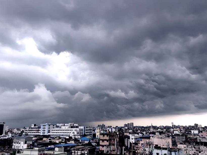 Monsoon clouds over Kolkata, India