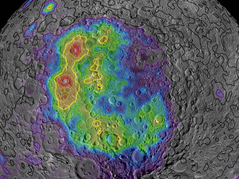 Map of thorium concentrations across the South Pole–Aitken Basin on the Moon's farside