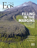 Cover of the April 2021 issue of Eos