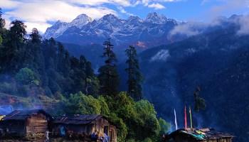Kanchenjunga as seen from the Tshoka basecamp near seismic station SK23