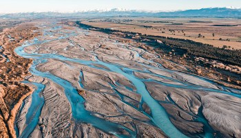 A braided river in New Zealand