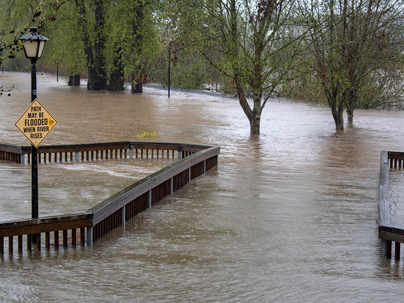 Extreme rainfall is more likely to occur in the United States as temperatures rise.