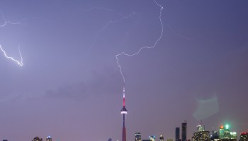 Upward lightning is uncommon, but more common types of lightning can make it more likely to occur.