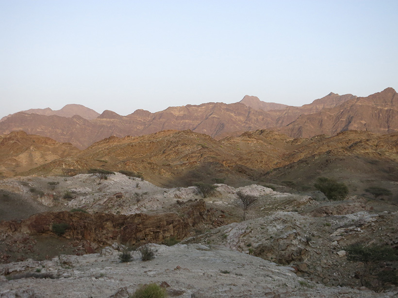 Study site used to examine a portion of the Oman–United Arab Emirates ophiolite's metamorphic sole