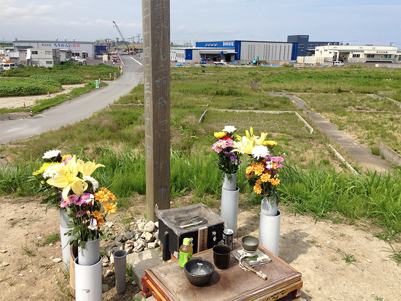 Photograph of the memorial for the Tohoku-oki earthquake and its victims in Yuriage, Japan.