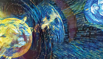 Artistic representation of a coronal mass ejection from the Sun heading toward Earth.