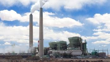 An active coal-burning power plant