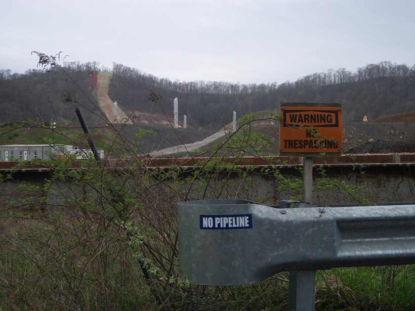 A natural gas pipeline easement in West Virginia