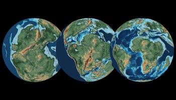在中生代,泛大陆的分裂导致了长期的气候趋势。