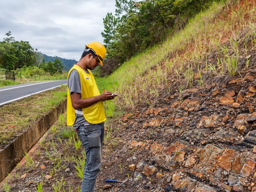 Navakanesh M Batmanathan mapped faults in Sabah, Malaysia.
