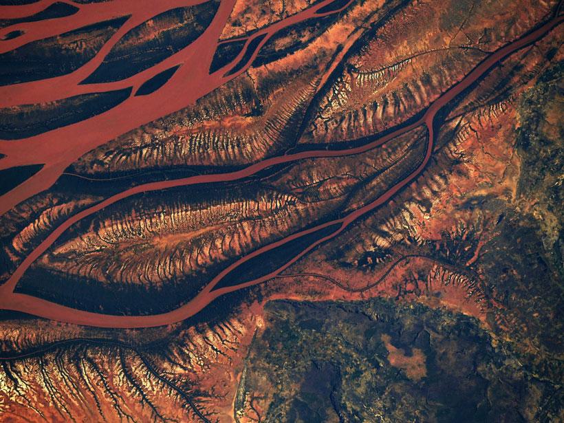 Aerial image of Madagascar.