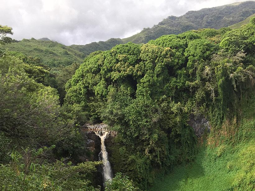 Photo of the Makahiku Falls in the Haleakala National Park Maui, Hawaii