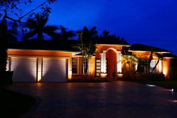 residential exterior landscape