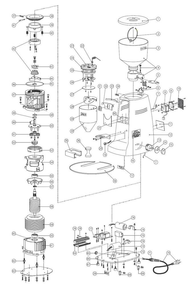 Mazzer Robur E Grinder Parts