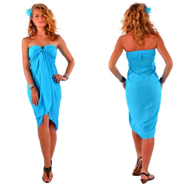 Solid Turquoise Sarong