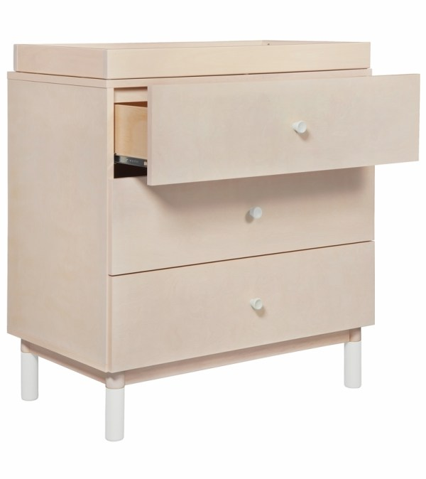 3 Drawer White Dresser