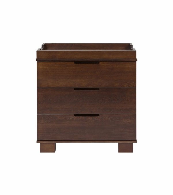 Espresso Changing Table Dresser