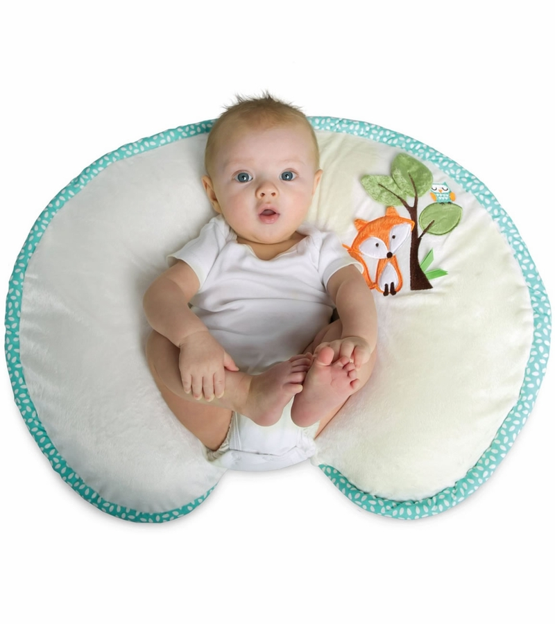 Boppy Pillow with Luxe Slipcover  Fox  Owls