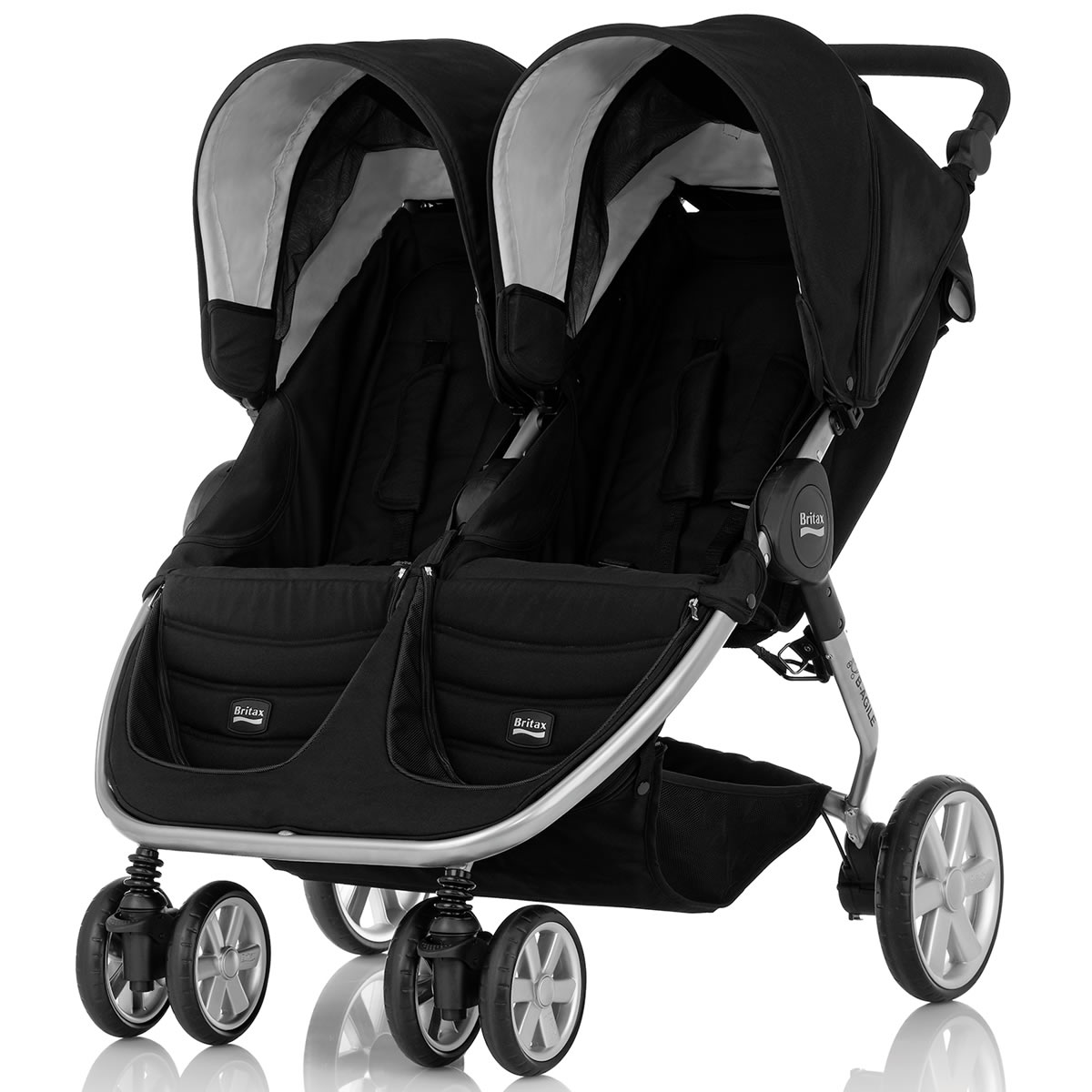 height adjustable high chair baby covers queen anne britax b-agile 2014 double stroller - black