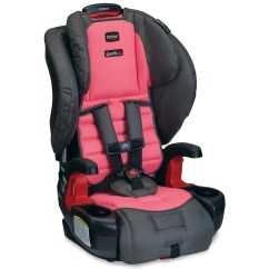 Booster Seat Straps To Chair Transfer From Bed Britax Pioneer G1 1 Harness 2 Car Coral