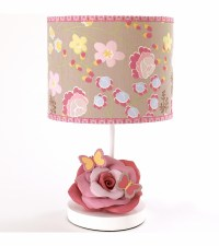 CoCaLo Maeberry Girl's Nursery Lamp Butterfly Pink Yellow ...