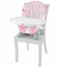 Fisher-Price SpaceSaver High Chair - Pink Ellipse