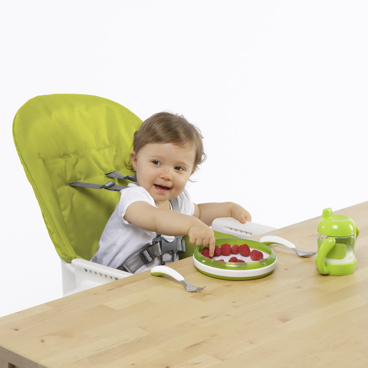 albee baby high chair counter height oxo tot seedling green