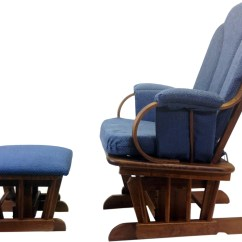 Blue Glider Chair Tantra For Sale Shermag Rocker And Ottoman Corduroy