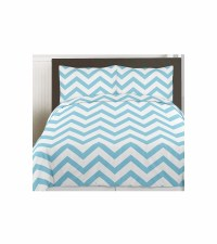 Sweet JoJo Designs Turquoise & White Chevron Twin Bedding Set