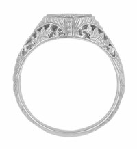 Art Deco Sterling Silver Filigree Sappphire Promise Ring ...