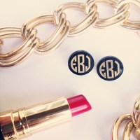 acrylic monogram post earrings featured at babybox.com