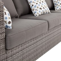 Bristow Outdoor Faux Wicker Deep Seating Sofa With 2