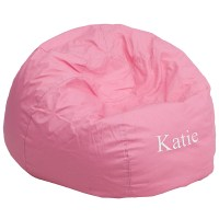 Personalized Oversized Solid Light Pink Bean Bag Chair, DG ...