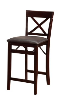 Triena X Back 24''H Folding Counter Height Bar Stool ...