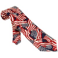 4th Of July Tie Multicolor Silk Necktie Mens Holiday Neck