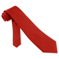 Christmas Red Silk Tie Necktie Mens Holiday Neck Tie