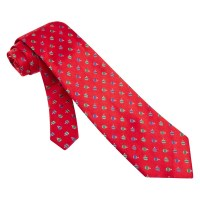 Holiday Ornaments Red Microfiber Tie Necktie Mens Holiday