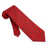 Holy Mini Red Silk Tie Necktie Mens Holiday Neck Tie