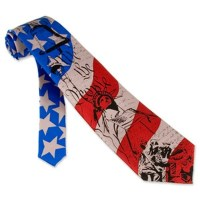 Patriotic Tie We The People Mens Blue Silk Neckwear
