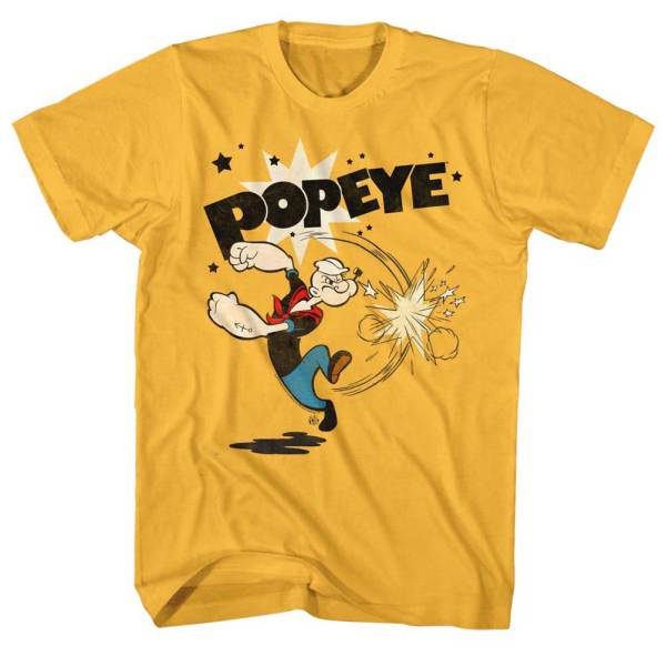 Popeye Shirt Swinging Gold T-shirt - Shirts