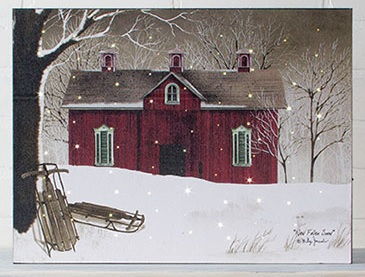 Lighted Canvas Pictures New Fallen Snow