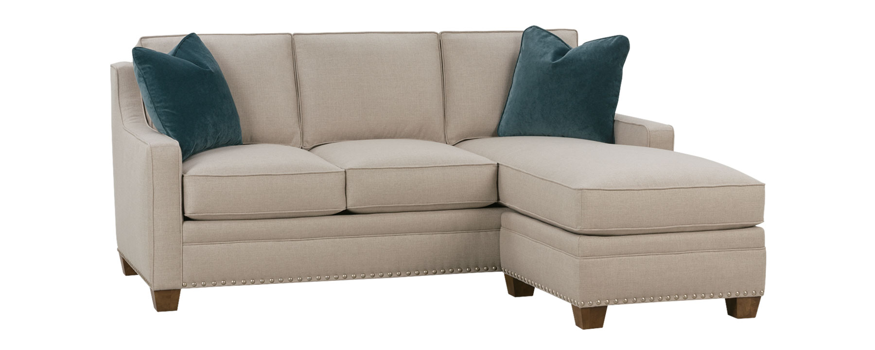 Small Fabric Sectional And Sleeper With Chaise  Club Furniture