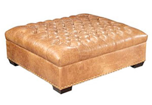 leather sleeper sofa with nailheads brown for sale used extra large square tufted cocktail ottoman | club furniture