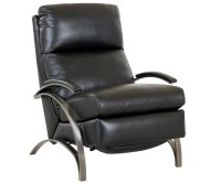 Contemporary European Leather Recliner Chair w/ Steel ...