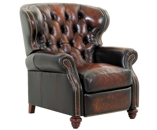 Leather Wingback Recliner Chair