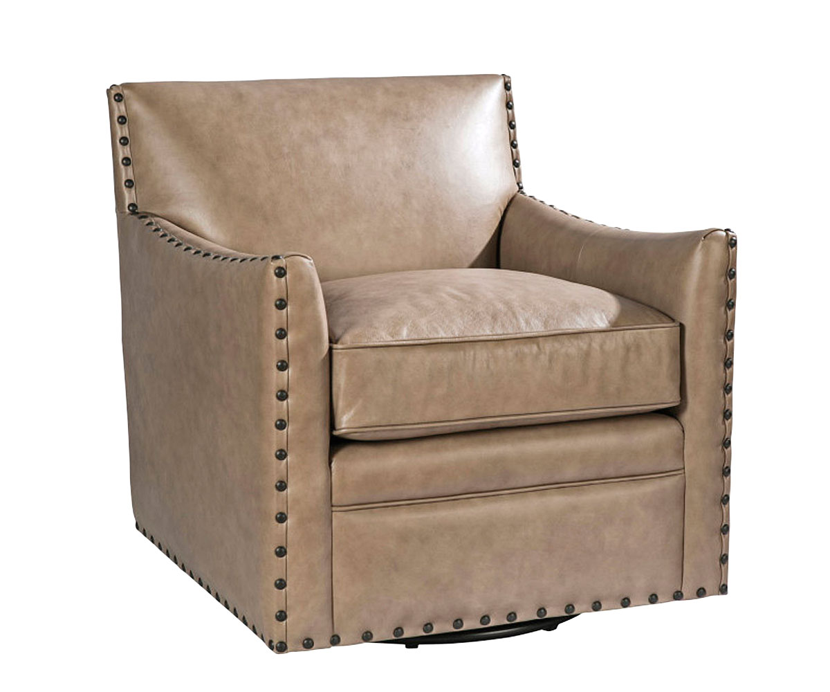 swivel club chair recliner desk in kitchen transitional leather accent furniture