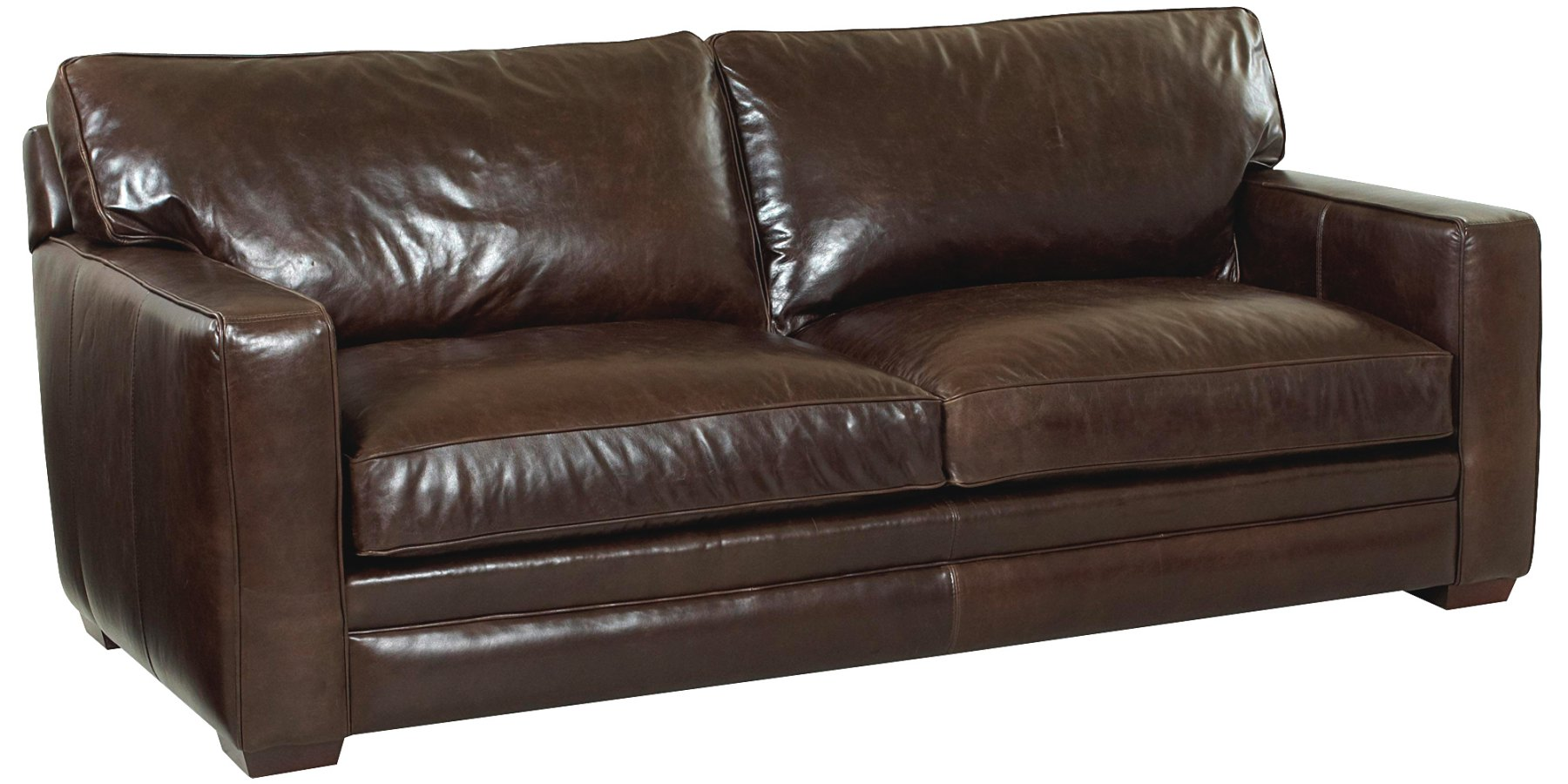 cloud track arm leather two seat cushion sofa italian denver oversized collection club furniture