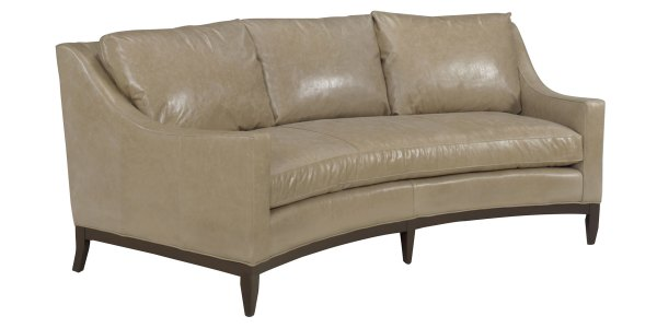 Curved Conversation Sofas Leather