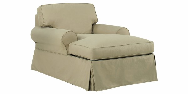 Slipcovered Chaise Lounge Chair Club Furniture
